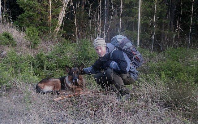 Jag och polaren Ozzy på vandring