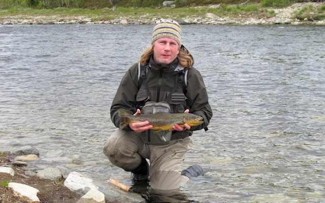 Öringfiske i norra Härjedalen