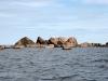 Stenformationer på kusten