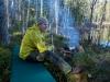 Vid en brasa i skogen