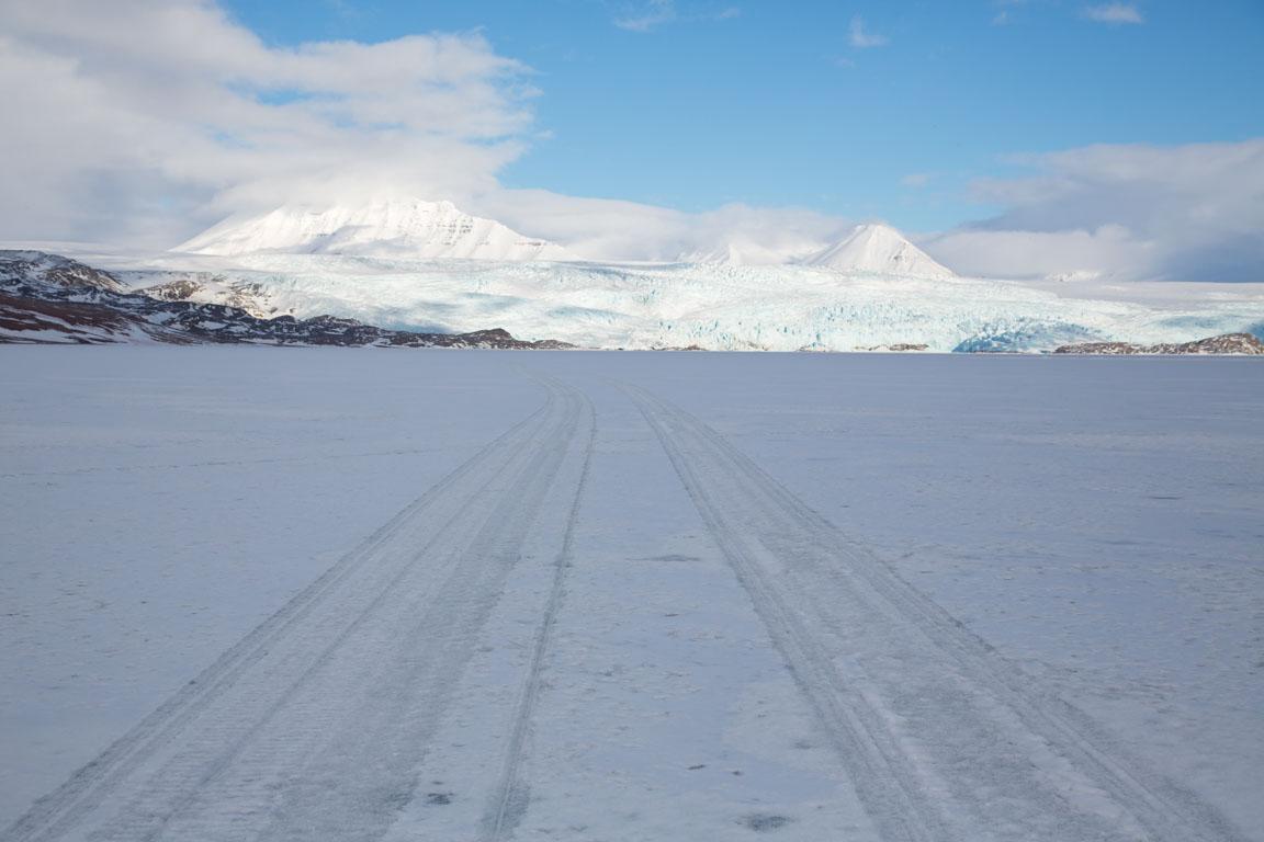 En av alla glaciärer på Svalbard