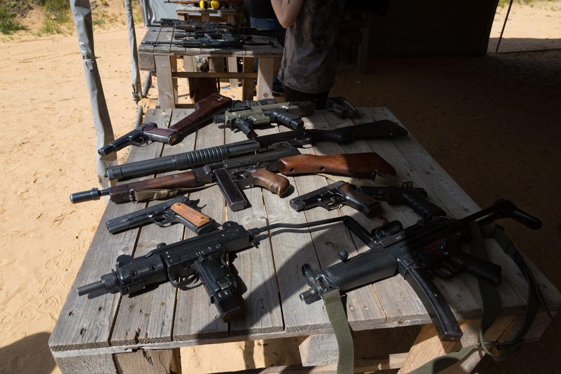 Pistoler och submachine guns vi testade