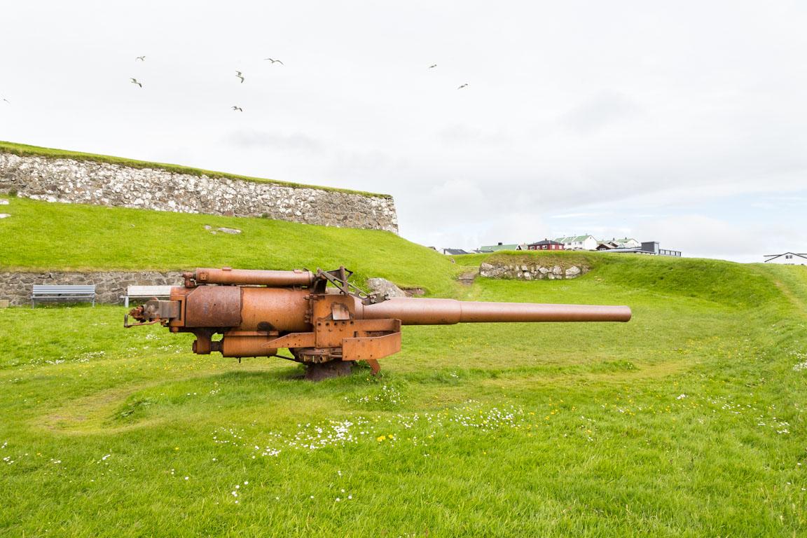 Skansin WWII-kanon