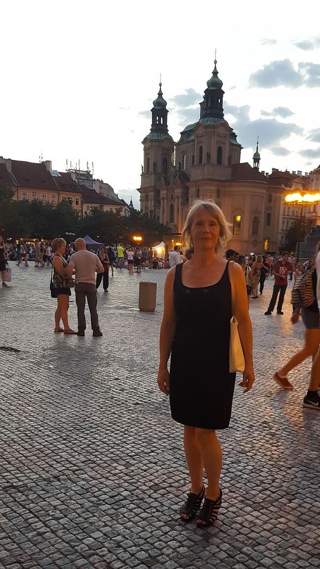 En varm kväll i Prag