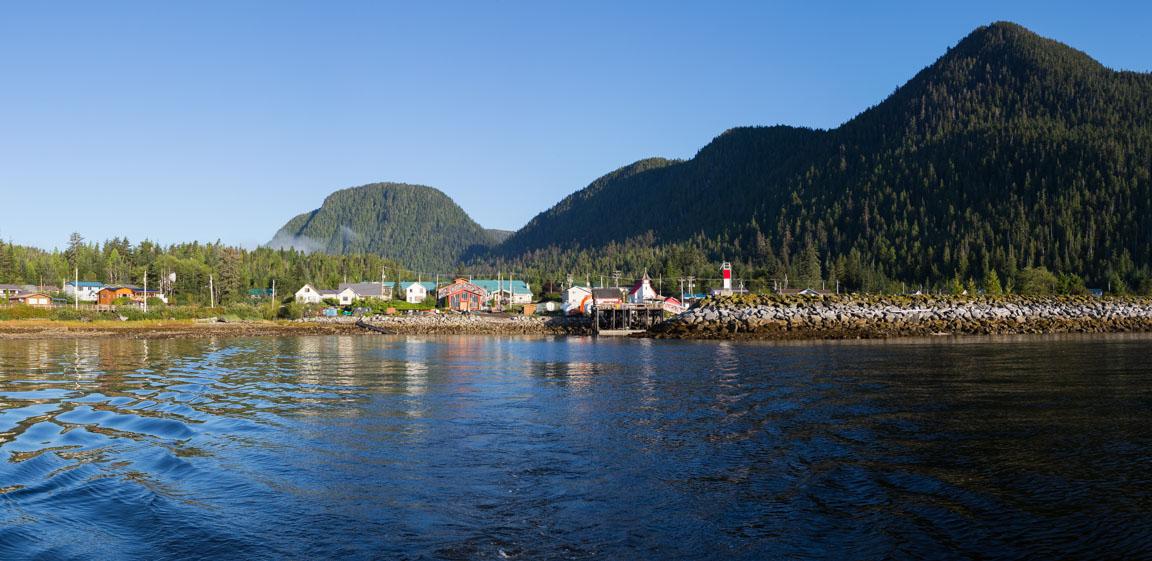 Hartley Bay från vattnet