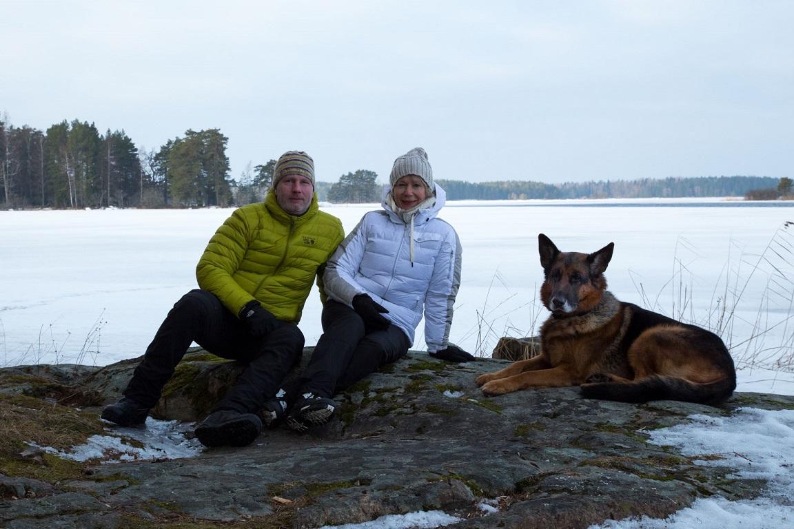 Tre på vintertur