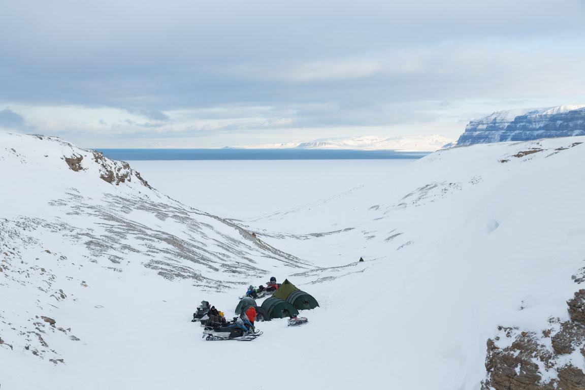 En sista bild över campen