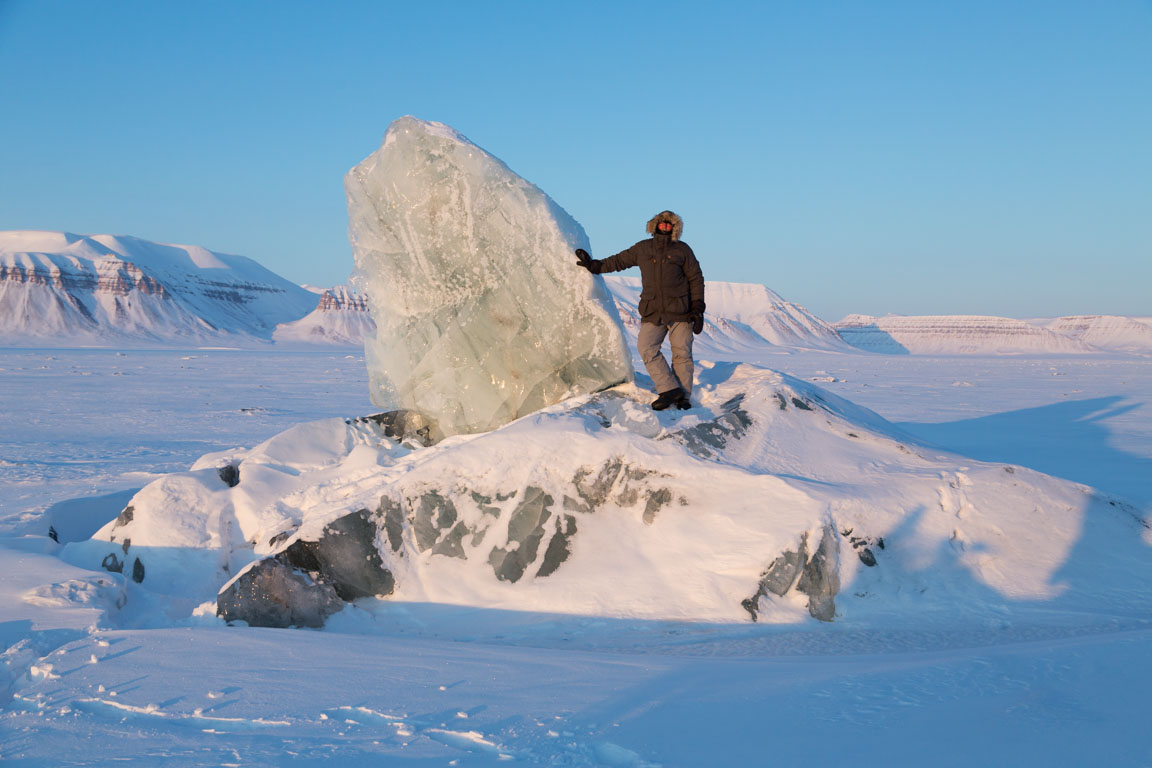 Jag med litet isberg