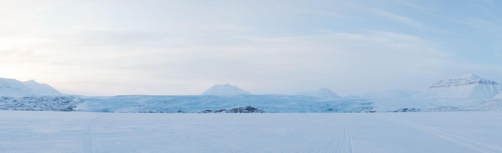 Panorama över Nordenskiöldbreen