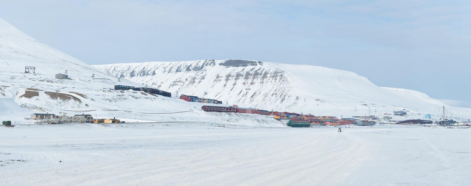 Panorama över Longyearbyen