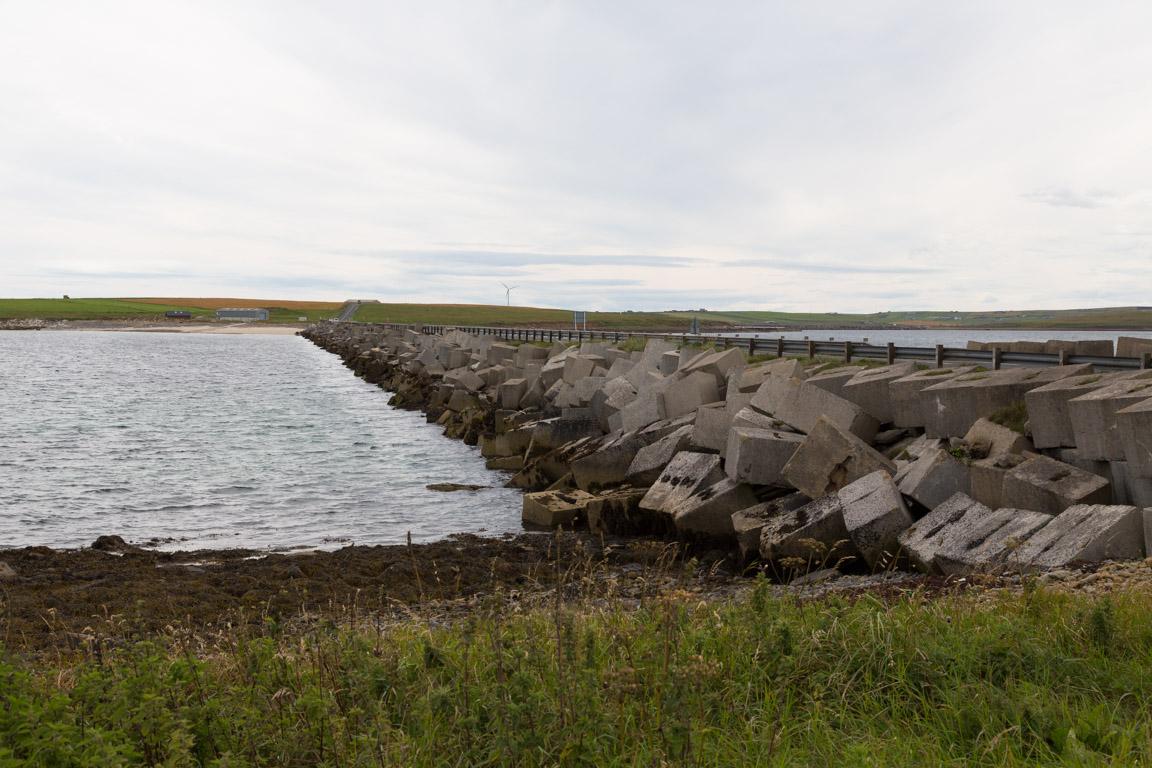 Churchill Barrier vid Lamb Holm