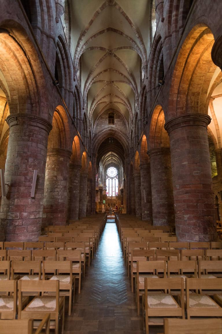 Stenpelare i katedralen