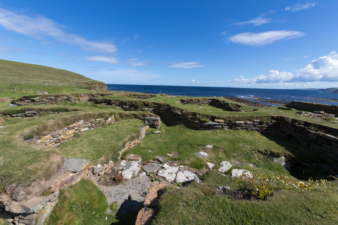 Ruiner efter vikingabyggnader