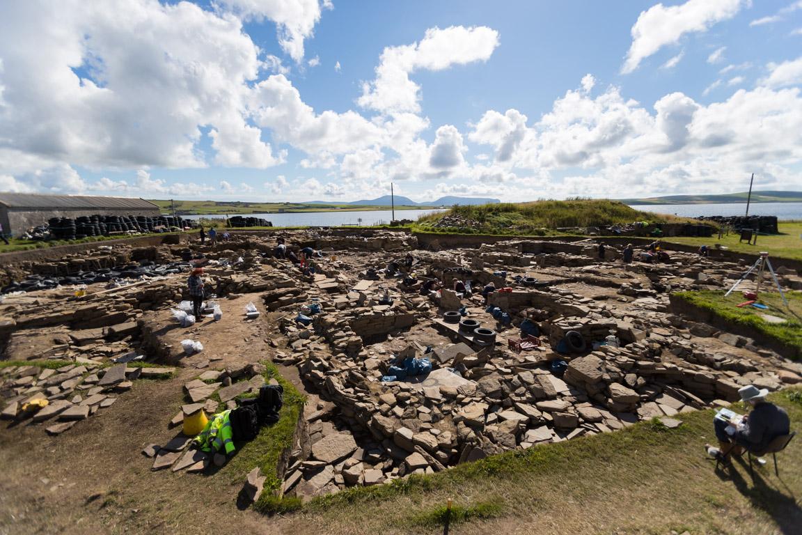 Utgrävning vid Ness of Brodgar