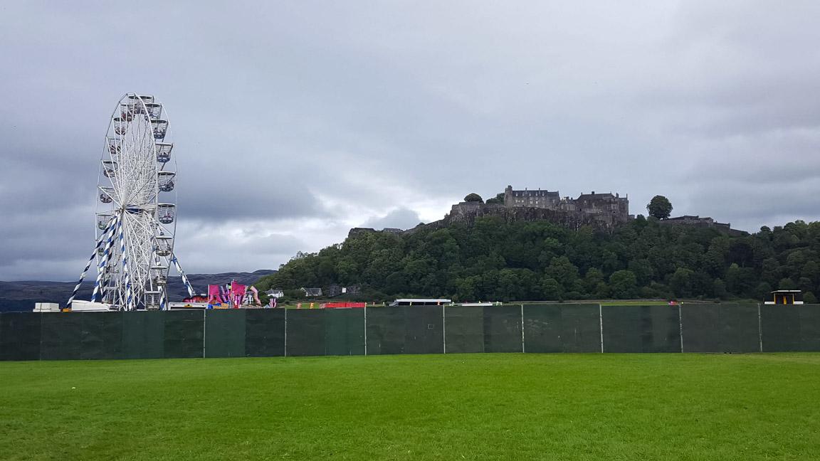 Arenan nedanför Stirling Castle