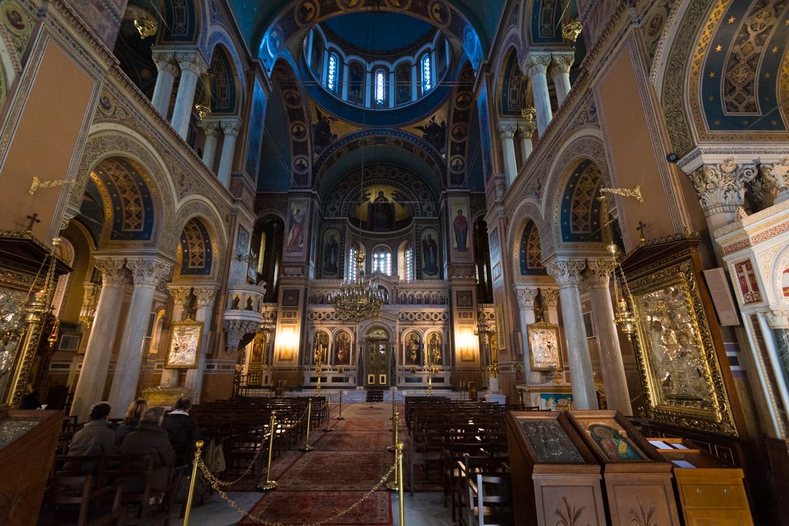 Inuti Metropolis-katedralen