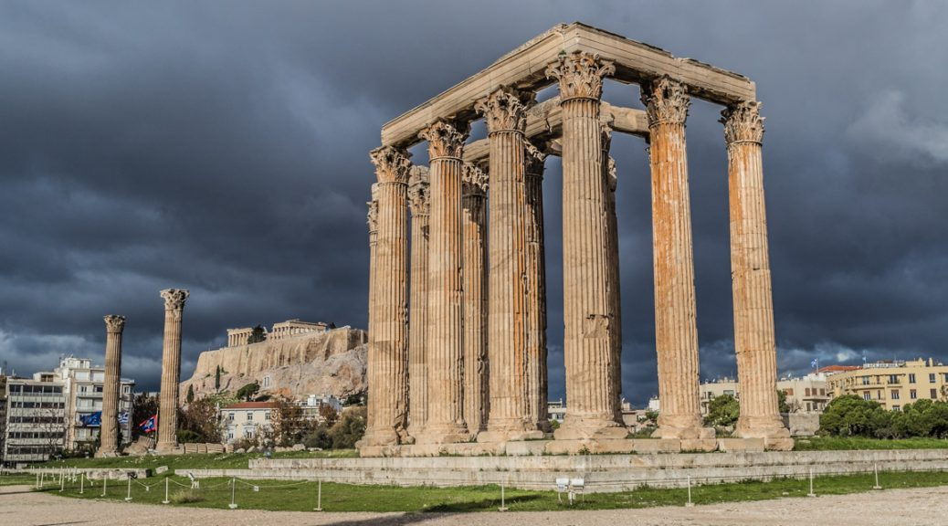 Temple of Zeus with Acropolis in the background