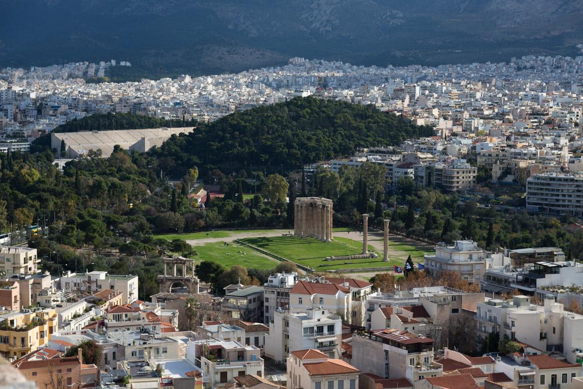 Utsikt från Akropolis