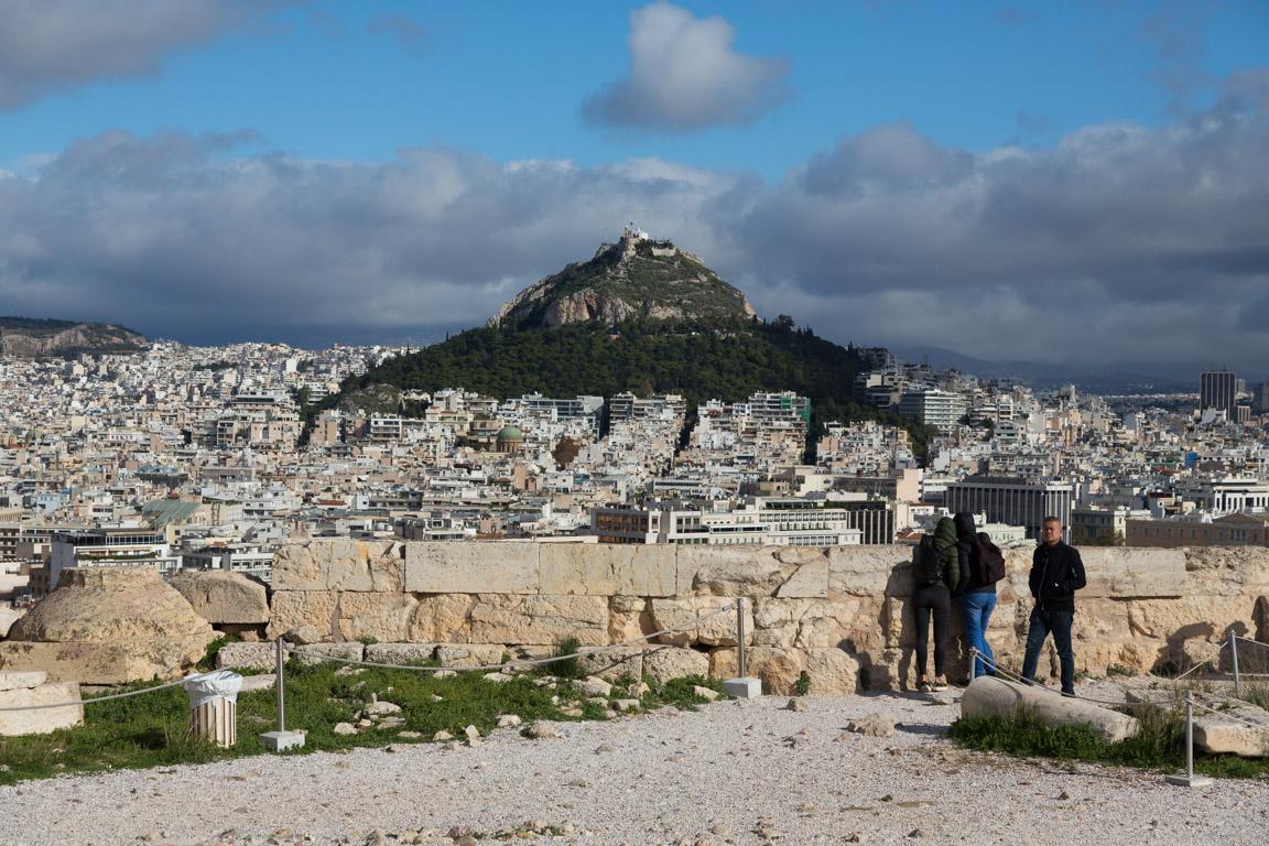 Lykabettos sett från Akropolis