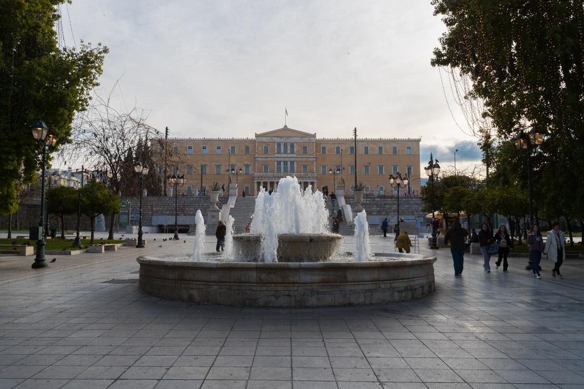 Parlamentet sett från Syntagmatorget