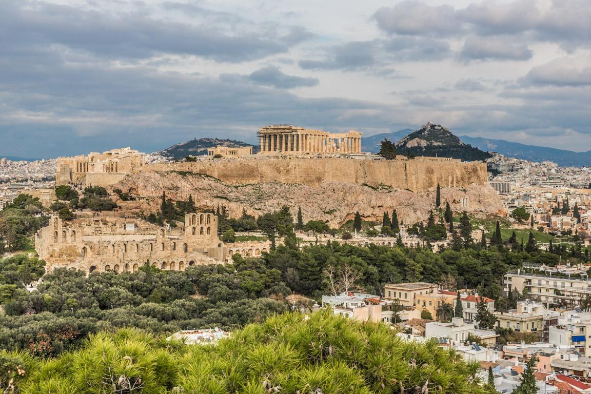 Akropolis sett från Filopappos kulle