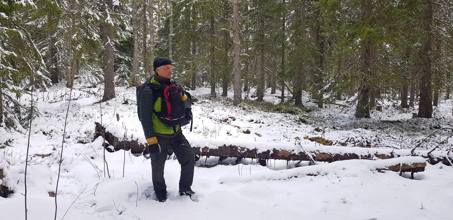 Håkan Vargas i snö