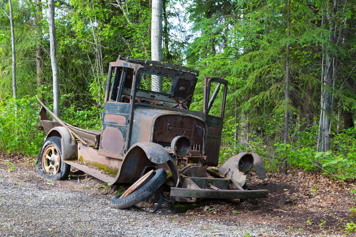 En av de första bilarna som kört sträckan?
