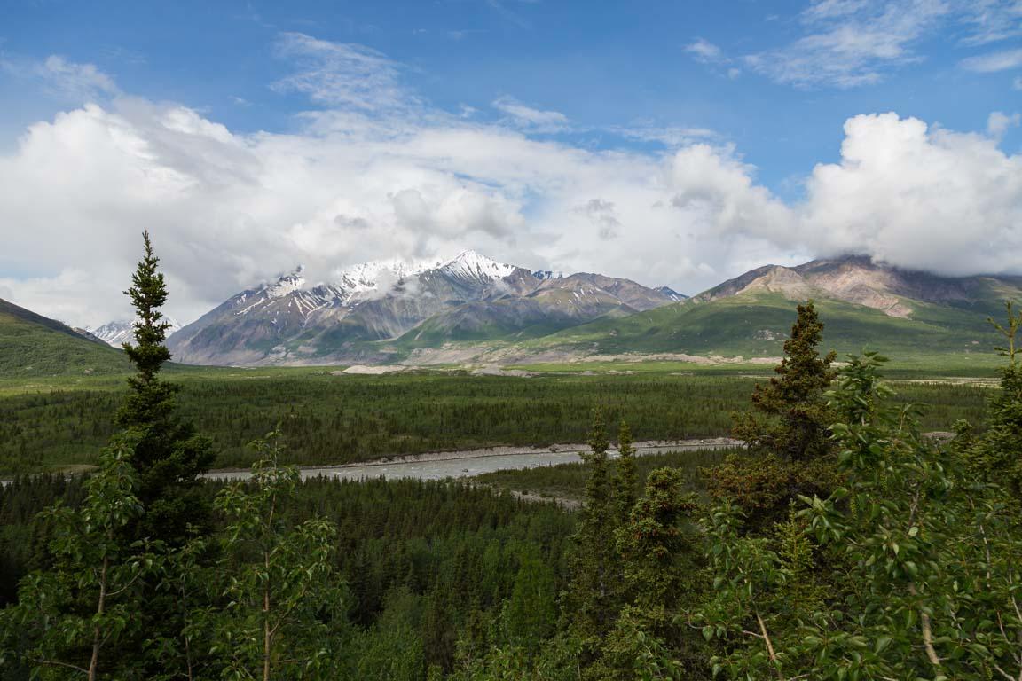 Black Rapids Glacier overlook