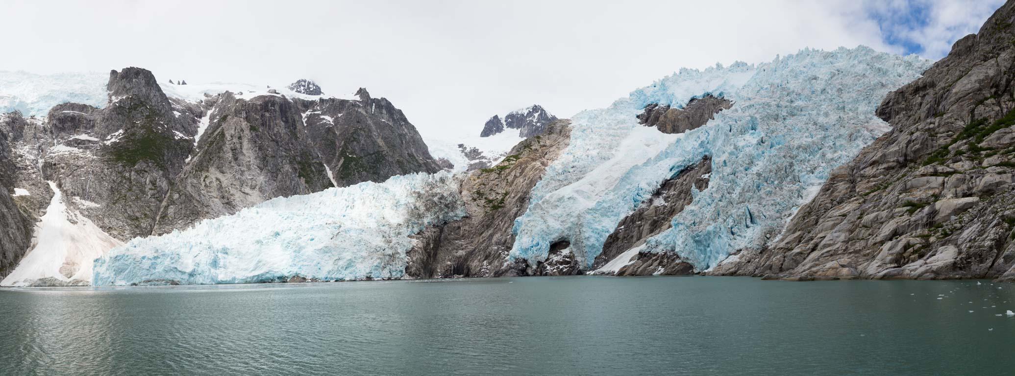 Panorama över Northwestern Glacier