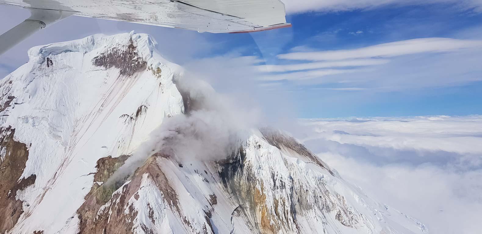 Rök från Mount Iliamna