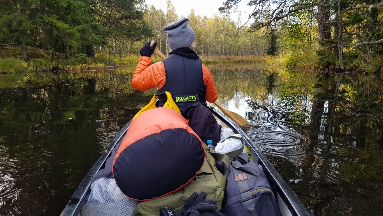 Härlig paddling i ån.