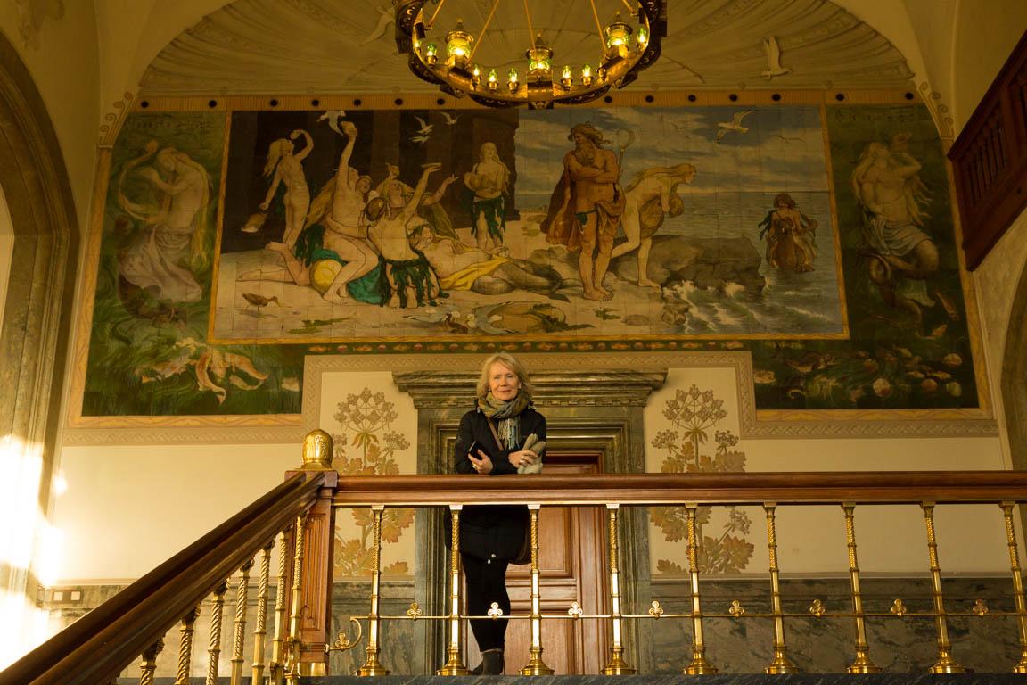 Målning på översta våningen