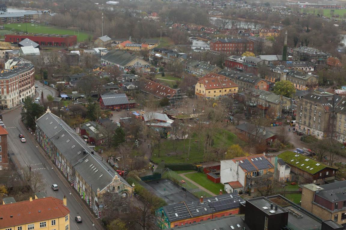 Christiania sett från ovan