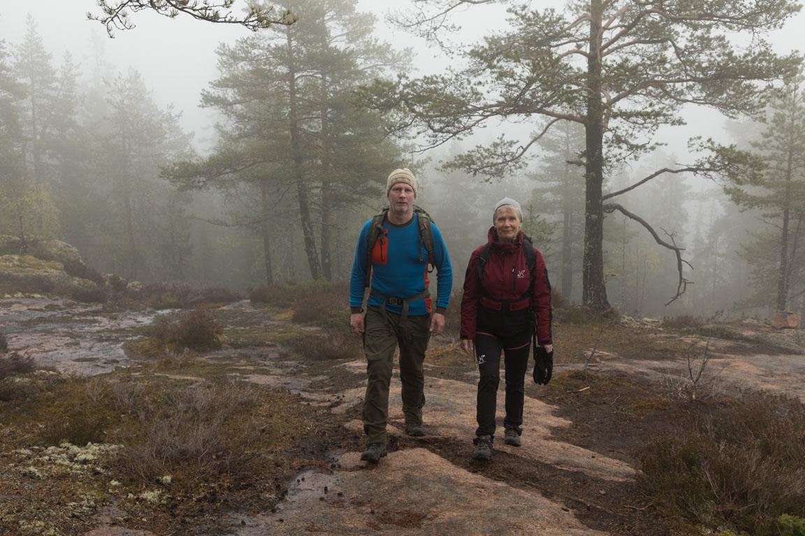 På väg upp på Skuleberget