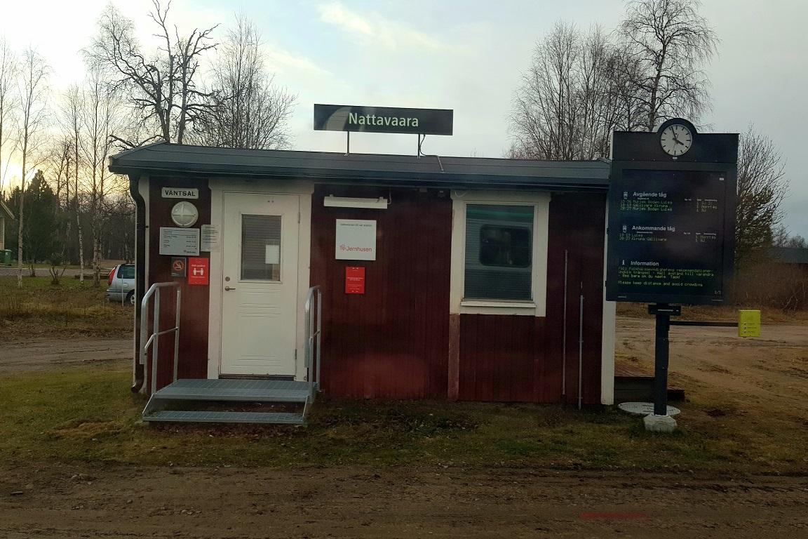Nattavaara tågstation, Sveriges minsta?