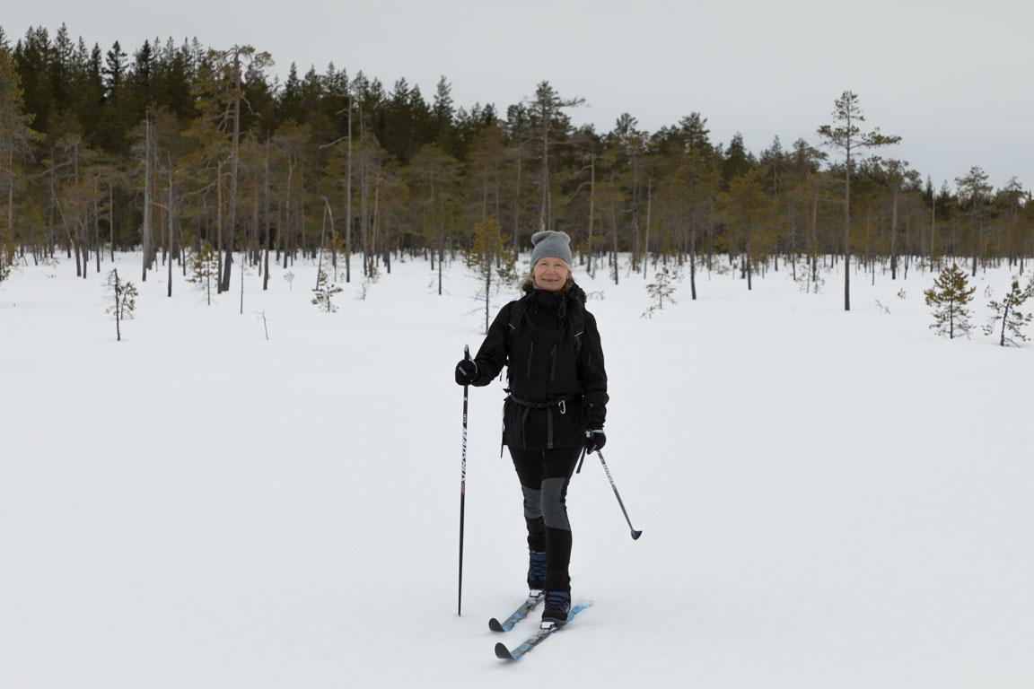 Nöjd skidåkare