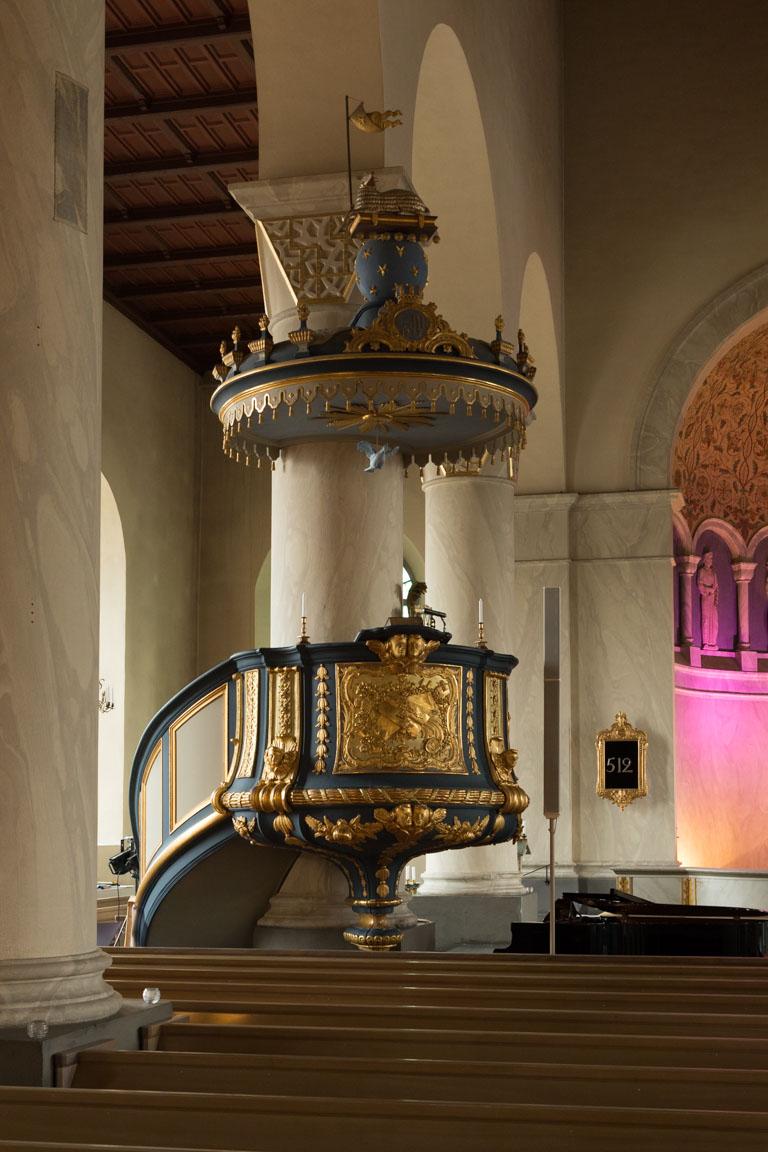 Predikstol i Färila kyrka