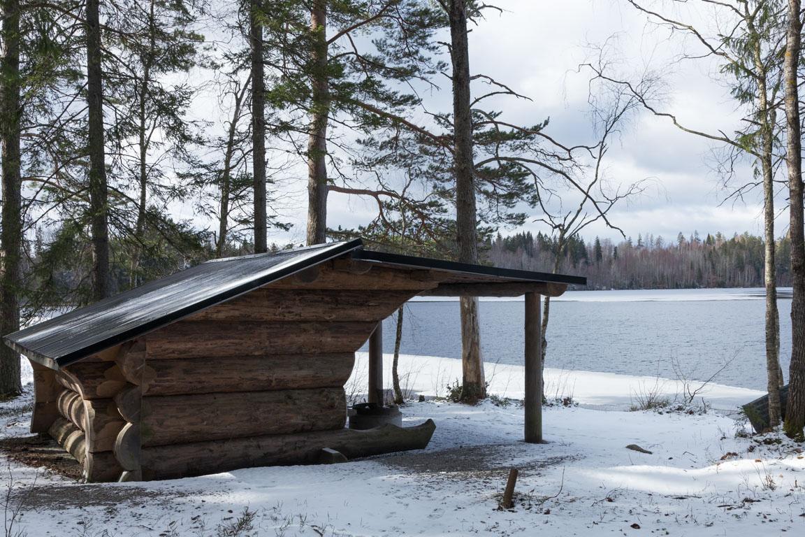 Stadigt vindskydd vid Dammsjön