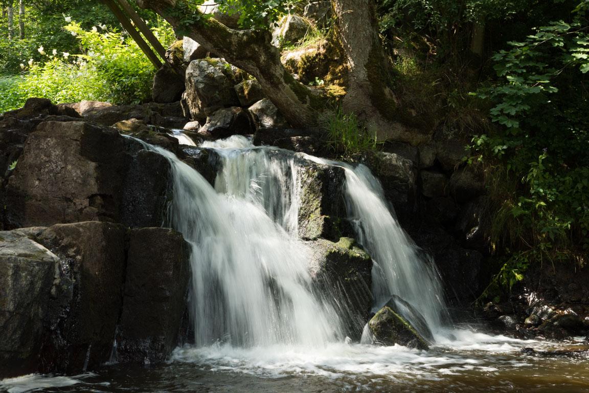 Del av Hallamölla Vattenfall