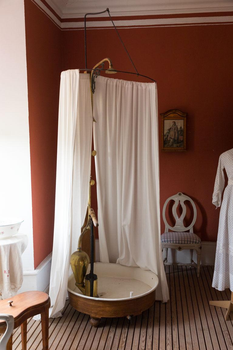 Tidig modell av duschkabin