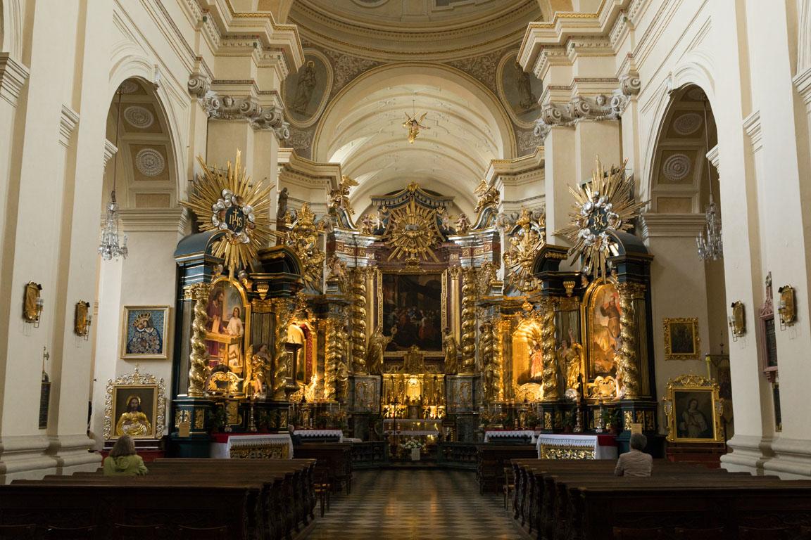 Det stora altaret i Church of St Bernardin of Siena